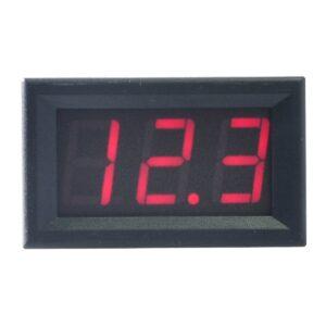červený voltmeter 0-99