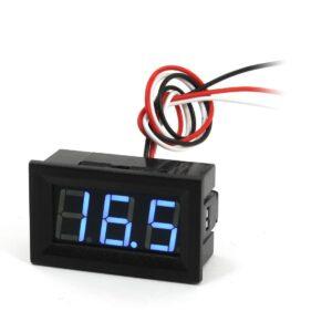 Modrý voltmeter 0-100V