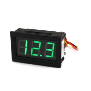 Zelený voltmeter