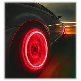 cervené led ventilky na auto ciapocky