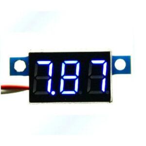 modrý mini voltmeter