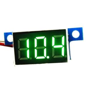 zelený minivoltmeter