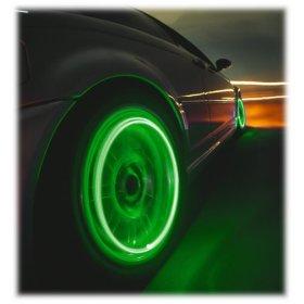 zelene led ventilky na auto