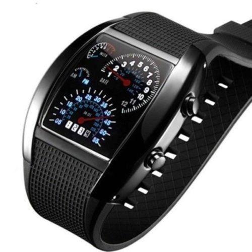 Športové hodinky s led displejom - zarucene.sk c1bf80e5b02