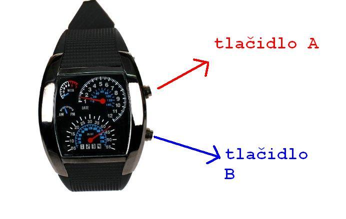 led hodinky s displejom