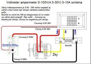 voltmeter ampermeter schéma