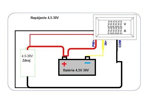ampmeter s bočníkom nabíjanie batérie