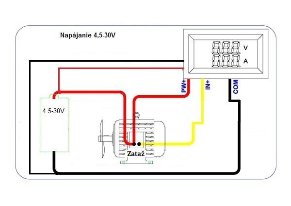 ampmeter s bočníkom 10a