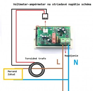 striedavy ampermeter schema ako zapojit