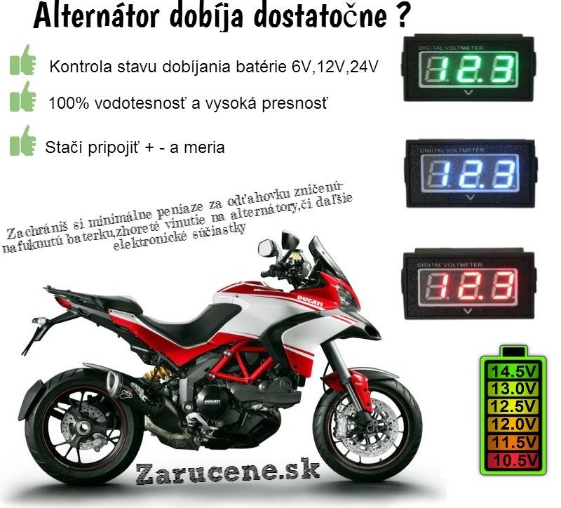 voltmeter na motorku