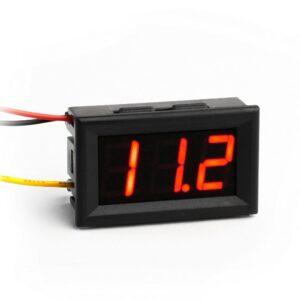 0-100V červeny  voltmeter