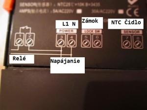 c1 termostat zapojenie