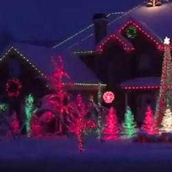 najlepšie vyzdobený svetelný dom