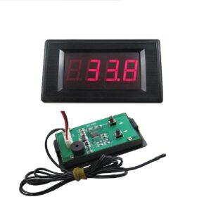 červeny teplomer s alarmom digitalny s čidlom pre vysokú teplotu