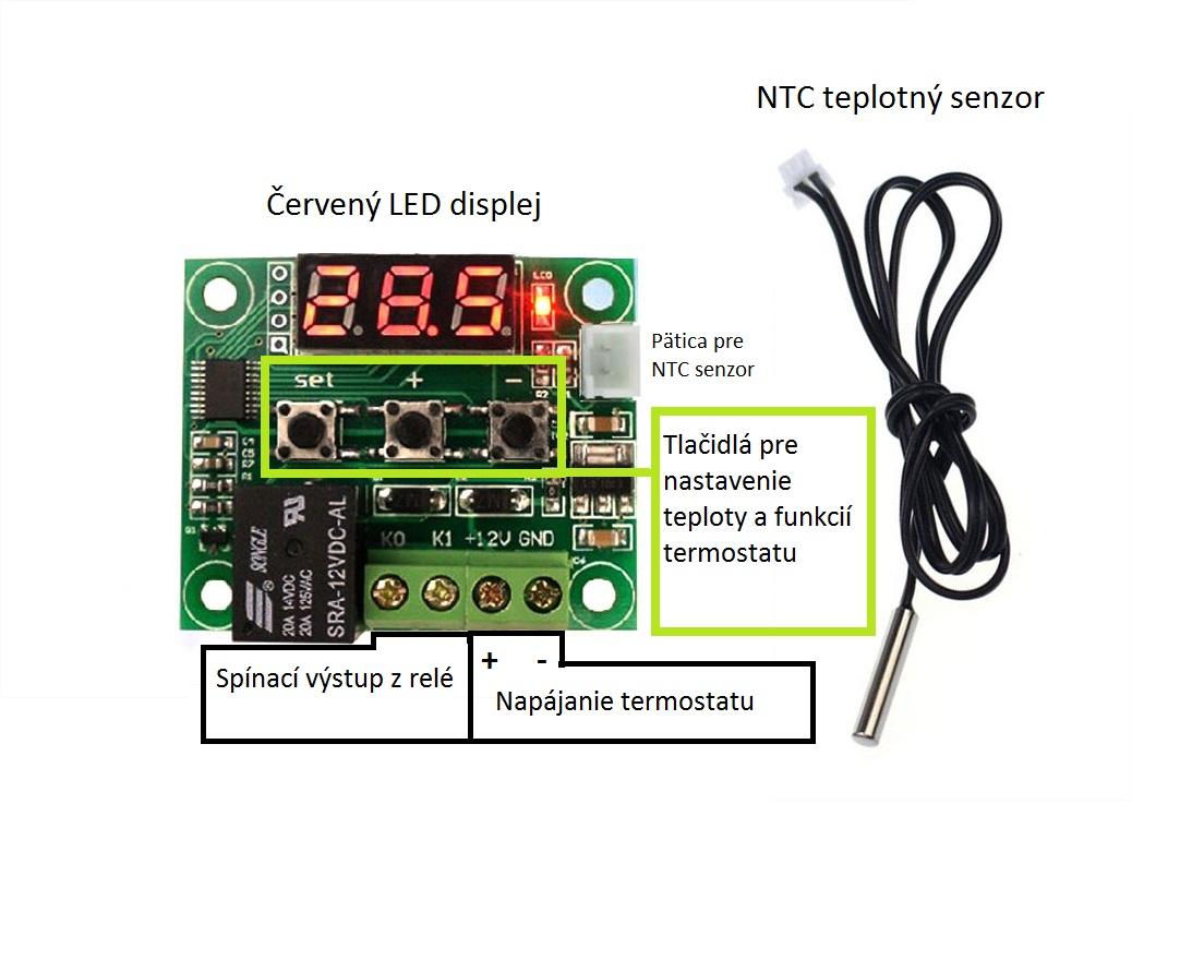 Návod pre termostat 12V