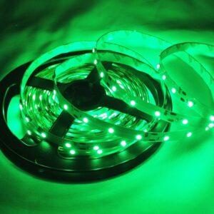 dekoračny zeleny LED pásik 12V jeden meter