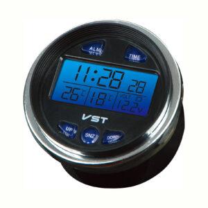 budík do auta hodiny-teplomer-voltmeter-alarm