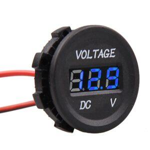 modrý vodotesny voltmeter