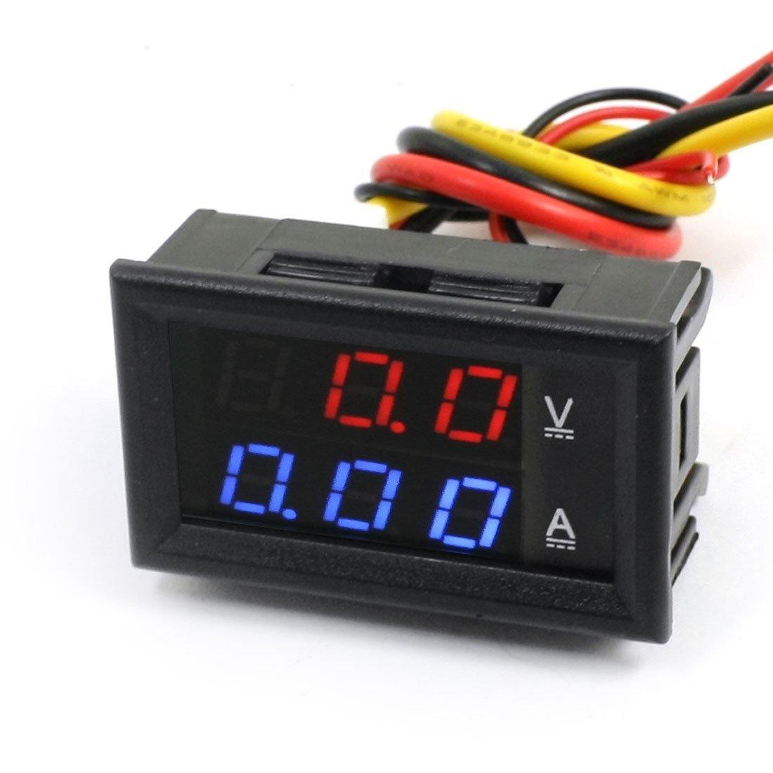 Voltmeter + ampérmeter nastaviteľný 4.5-30V / 0-100V 10A
