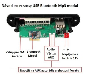 Bluetooth rozširenie pre autoradio schéma