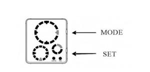 Led hodinky round nastavenie mode set