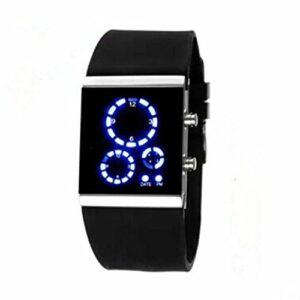 Round led blue hodinky