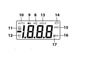 LCD displej skúšačka multimeter